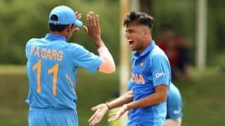 India u19 vs pakistan u19 pakistan bowled out at 172 due to effective bowling of sushant mishra kartik tyagi ravi bishnoi 3932143