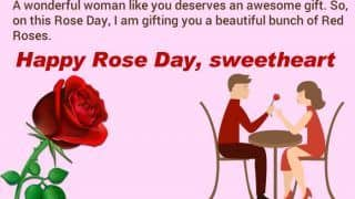 Rose Day 2020: Romantic Wishes, WhatsApp Messages, Facebook Status, GiFs to Send Your Valentine