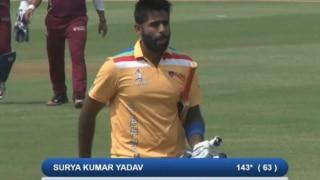 सूर्यकुमार यादव ने 63 गेंदो पर जड़े 143 रन; डीवाई पाटिल में दूसरा शतक बनाया