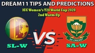 SL-W vs SA-W Dream11 Team Prediction, ICC Women's T20 World Cup 2020, 2nd Warm-Up: Captain And Vice-Captain, Fantasy Cricket Tips Sri Lanka Women vs South Africa Women at Karen Rolton Oval, Adelaide 5:30 AM IST