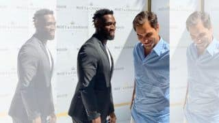 WATCH: Roger Federer's Friendly Tennis Battle With South Africa Rugby Captain Siya Kolisi in Cape Town