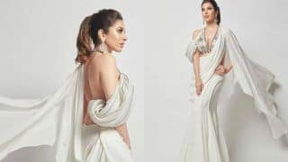 Sophie Choudry Goes Sultry as She Flaunts Her Bareback in Sensuous White Ensemble