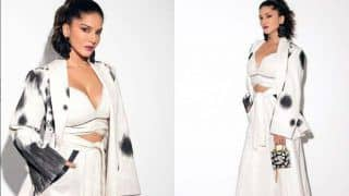 Sunny Leone Looks Uber Hot in White co-ord Outfit as She Attends Dabboo Ratnani's Calendar Launch