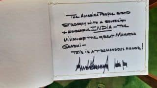 US President Trump Mentions Mahatma Gandhi in Visitor's Book at Rajghat - Here's What he Wrote