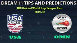 USA vs OMN Dream11 Team Prediction 5th Match, CWC League-2 One-Day: Captain And Vice-Captain, Fantasy Cricket Tips United States of America vs Oman at Tribhuvan University International Cricket Ground, Kirtipur 9:15 AM IST