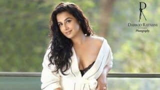 Vidya Balan's Sultry Look in Sheer Black Bralette And Bathrobe For Dabboo Ratnani's Calendar is Too Hot to Handle
