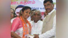 तमिलनाडु: भाजपा में शामिल हुईं कुख्यात तस्कर वीरप्पन की बेटी विद्या रानी