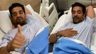 Angad Bedi Gets Knee Surgery And Neha Dhupia Shoots Him Right Before he Goes Inside Operation Theatre