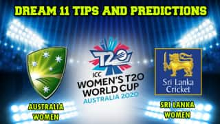 Dream11 Team Australia vs Sri Lanka, Cricket AU-W vs SL-W ICC Women   s T20 World Cup, Match 6