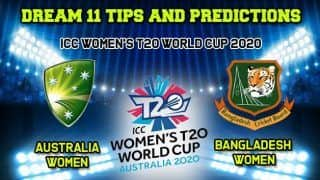 ICC Women   s T20 World Cup 2020 Dream11 Team Prediction Australia vs Bangladesh