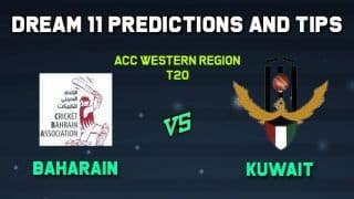 Dream11 Team Prediction Cricket BAH vs KUW Qatar vs United Arab Emirates, ACC Western Region T20     Cricket Prediction Tips For Today   s Match Cricket BAH vs KUW at Al Amerat Cricket Ground Oman Cricket (Ministry Turf 1)