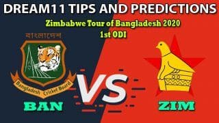 BAN vs ZIM Dream11 Team Prediction, Zimbabwe Tour of Bangladesh 2020, 1st ODI