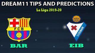 BAR vs EIB Dream11 Team Prediction, La Liga 2019-20: Captain And Vice-Captain, Fantasy Cricket Tips BAR vs Eibar at Camp Nou, Barcelona 8:30 PM IST