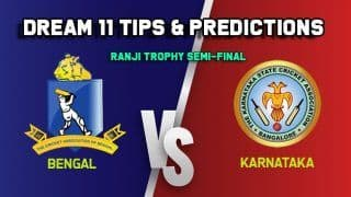 Dream11 Team Prediction BAN vs KAR, Ranji Trophy, Semi-Final: Captain And Vice-Captain, Fantasy Cricket Tips Bengal vs Karnataka Eden Gardens, Kolkata 9:30 AM IST