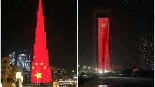 'Stay Strong': Dubai's Burj Khalifa Lights Up in Red to Express Solidarity With China Over Coronavirus