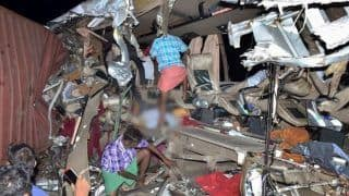 20 Dead, Several Others Injured After KSRTC Bus Collides With Truck in Tamil Nadu