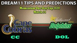 CC vs DOL Dream11 Team Prediction, Momentum One-Day Cup 2020, Match 14: Captain And Vice-Captain, Fantasy Cricket Tips Cape Cobras vs Dolphins at Newlands, Cape Town 5:00 PM IST
