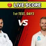 Live Cricket Score India vs New Zealand, 1st Test: New Zealand Lead by 51 Runs After Williamson Hits 89 on Day 2