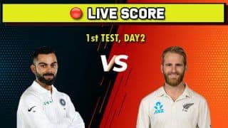 Live cricket score India vs New Zealand, IND vs NZ, 1st Test, Day 2, Basin Reserve, Wellington, February 22 Match Time