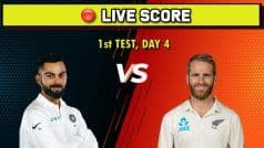 Live Score, India vs New Zealand, 1st Test, Day 4: Tim Southee Five-Wicket Haul Bundles Out India for 191; New Zealand Need Nine Runs to Win