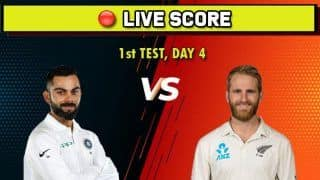 Live Cricket Score India vs New Zealand, IND vs NZ, 1st Test, Day 4, Basin Reserve