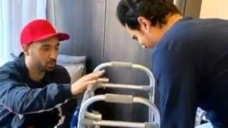 Diljit Dosanjh Visits His 'Real Soorma' Angad Bedi as The Latter Recuperates From Knee Surgery