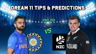 India vs New Zealand Dream11 Team tips and Prediction: Captain, Vice-Captain For Today's 2nd ODI