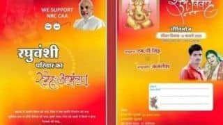 MP Man Prints PM's Modi Photo, Pro-CAA and NRC Slogans on His Wedding Invitation