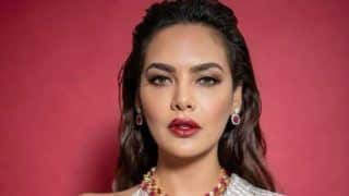 Esha Gupta Raises The Oomph Factor as She Goes Bold in Silver Shimmery Dress