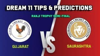 Dream11 Team Prediction GUJ vs SAU, Ranji Trophy, Semi-Final: Captain And Vice-Captain, Fantasy Cricket Tips Gujarat vs Saurashtra Rajkot 9:30 AM IST