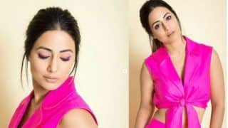 Hina Khan Steals The Show in Hot Pink co-ords During Hacked Promotions