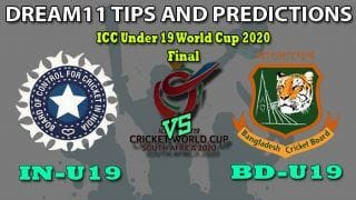IN-U19 vs BD-U19 Dream11 Team Prediction ICC Under-19 World Cup 2020 Final: Captain And Vice-Captain, Fantasy Cricket Tips India U19 vs Bangladesh U19 at Senwes Park, Potchefstroom 1:30 PM IST