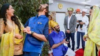 Kamya Punjabi's Engagement Photos And Video: Couple Exchanges Rings in a Traditional Ceremony at Gurudwara