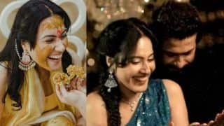 Kamya Punjabi's Mehendi, Haldi Photos And Videos: Bride Wears Gorgeous Blue Lehenga; Stars Spotted