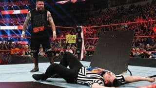 WWE Raw Results, February 24: Kevin Owens Puts Referee Through The Table After Controversial Call in Match With Randy Orton