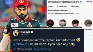Virat Kohli Worried as Royal Challengers Bangalore's Twitter, Facebook, Instagram Accounts Go Blank