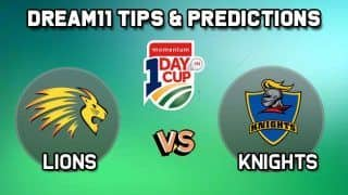 Dream11 Team Lions vs Knights, Cricket HL vs KTS South Africa ODD