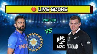 Live cricket score India vs New Zealand, IND vs NZ, 2nd ODI, Eden Park, Auckland, February 8 Match Time