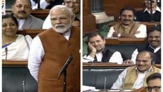 PM Modi Cracks Jokes on 'Fit India' in Parliament, Rahul Gandhi Smiles