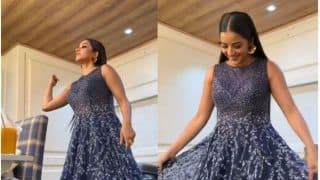 Bhojpuri Actor Monalisa Flaunts Her Blue Shimmery Gown in BTS Video- Watch