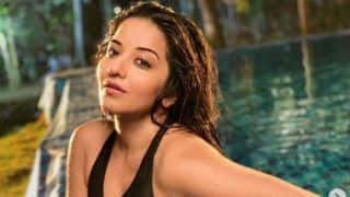 Monalisa's Sensuous And Hot Pool Pictures in Black Monokini Leave Fans Awestruck
