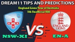 NSW-XI vs EN-A Dream11 Team Prediction 5th Unofficial ODI, England Lions Tour of Australia 2020: Captain And Vice-Captain, Fantasy Cricket Tips New South Wales vs England Lions at Drummoyne Oval, Sydney 4:30 AM IST