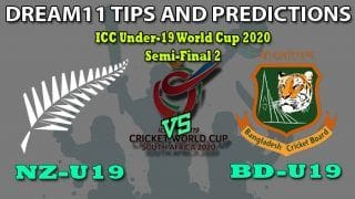NZ-U19 vs BD-U19 Dream11 Team Prediction ICC U19 World Cup 2020: Captain And Vice-Captain, Fantasy Cricket Tips New Zealand U19 vs Bangladesh U19 Semifinal 2 at Senwes Park, Potchefstroom 1:30 PM IST