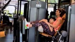 Shilpa Shetty Kundra's 'Fun' Leg Press With Son Viaan is The Cutest 'Fitness Motivation' on Internet This Monday | Watch