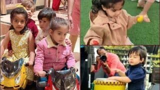 Taimur Ali Khan-Inaaya Naumi Kemmu-AbRam Khan Adds Dollops of Cuteness at Roohi-Yash Johar's Birthday Party