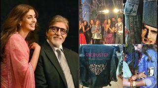 Shweta Bachchan Nanda Wears Amitabh Bachchan's Portrait on Sleeves, Megastar Turns Emotional at Her Fashion Show