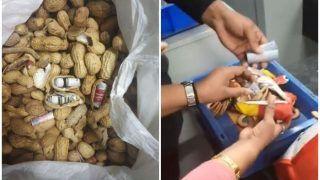 Video: मूंगफली में छिपाकर शख्स ले जा रहा था 45 लाख रुपये की विदेशी करेंसी, CISF ने दबोचा