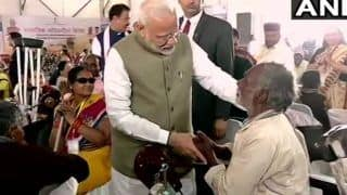PM Modi Distributes Assistive Aids To Senior Citizens in Prayagraj, Says 'Govt Committed to Work For Everyone'