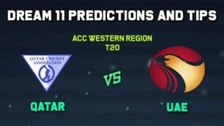 Dream11 Team Qatar vs United Arab Emirates, Cricket QAT vs UAE ACC Western Region T20
