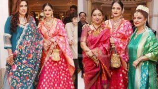 Rekha Repeats Her Lehenga From Isha Ambani's Wedding, Sets Example About Recycling Expensive Clothes